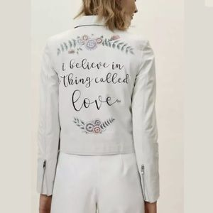New Anthro BHLDN Thing Called Love Leather Jacket
